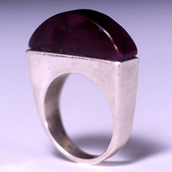 Inlay Ring set with Arched Shape Gel Sugilite