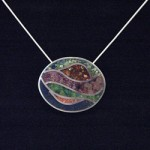Oval Inlay Pendant